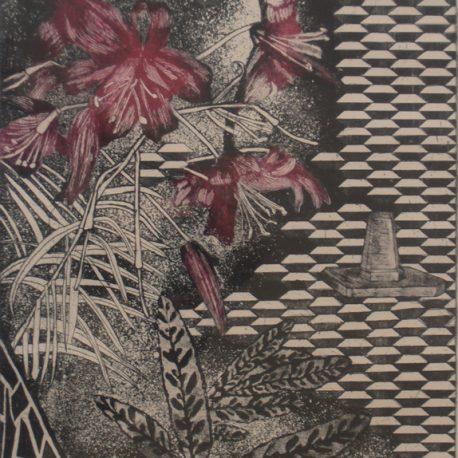 Garden Of Earthly Delights – Magenta Flower/Black Background