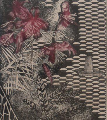 Garden Of Earthly Delights – Magenta/Black