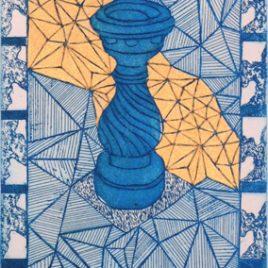 Small Fountain  – Blue/Gold